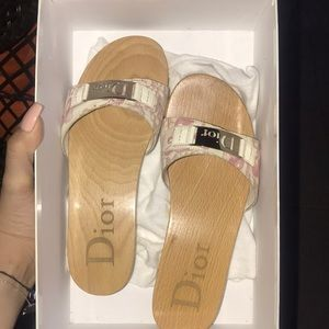 Dior Pretty Pink and White Sandals size 7!